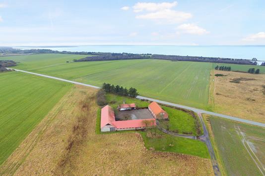 Landejendom på Vadumvej i Spøttrup - Luftfoto