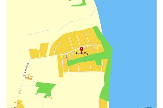 Fritidsgrund på Astrup Vig i Roslev - Kort