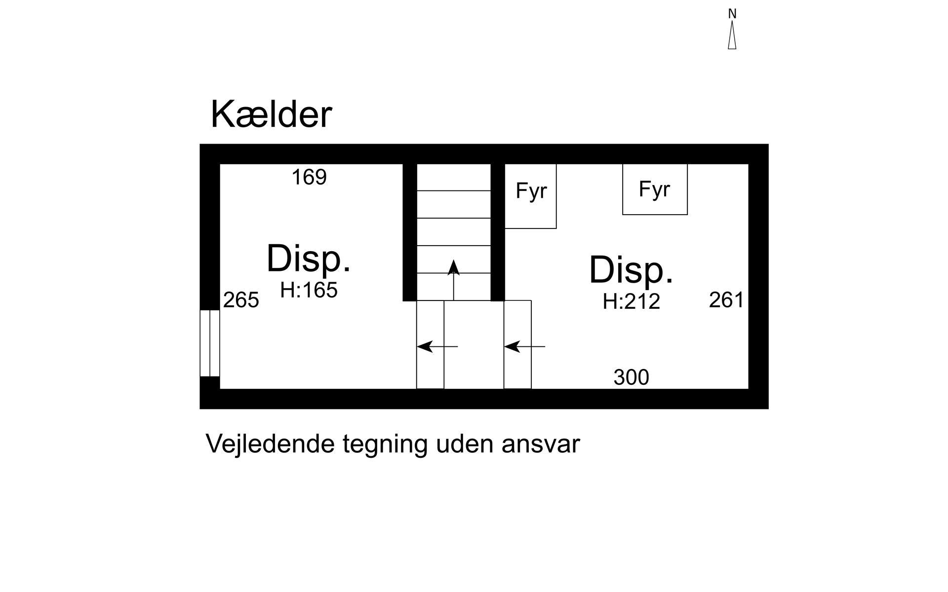 Landejendom på Sandbjergvej i Hørsholm - Kælder