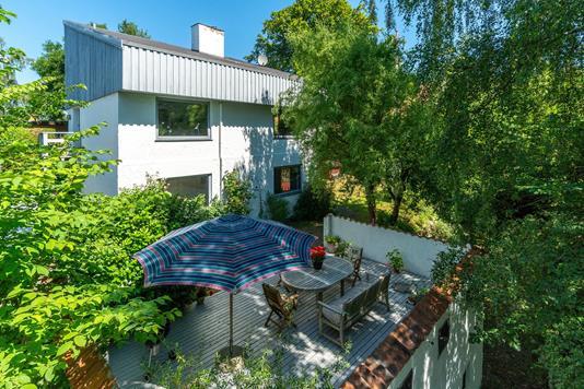 Villa på Morlenesvej i Holte - Set fra haven