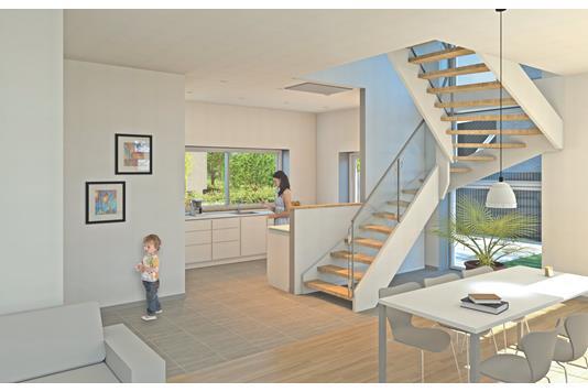 Villa på Skæring Enge i Egå - Illustration