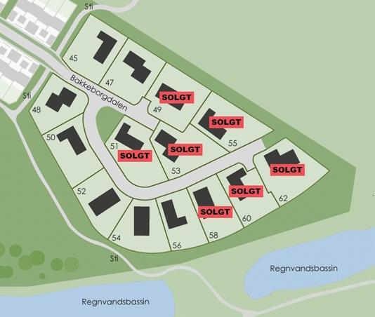 Helårsgrund på Bakkeborgdalen i Silkeborg - Område