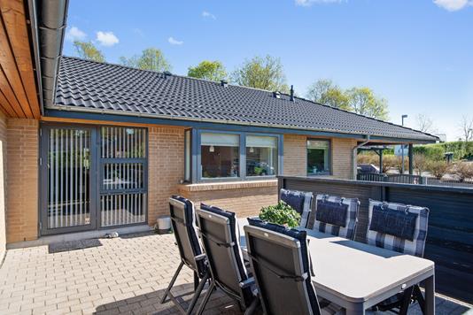 Villa på Bellisvej i Them - Terrasse