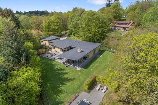 Villa på Dybbølvej i Silkeborg - Luftfoto