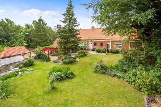 Villa på Øster Bordingvej i Silkeborg - Set fra haven