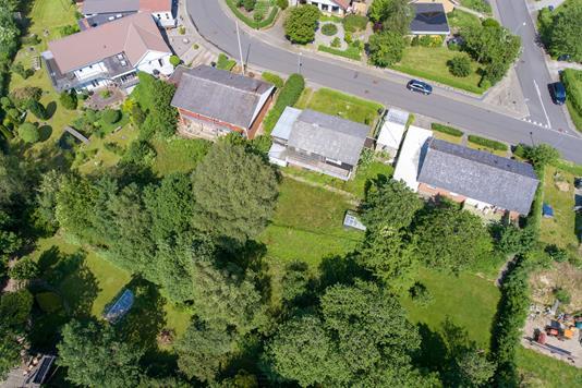 Villa på Hjarddalsvej i Gjern - Luftfoto