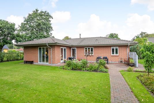 Villa på Sportsvej i Bryrup - Terrasse
