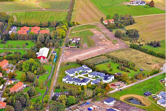 Villa på Valmuevænget i Slagelse - Luftfoto