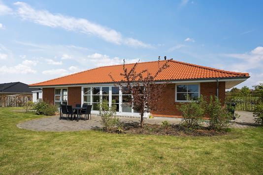 Villa på Rugmarken i Slagelse - Set fra haven