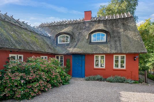 Villa på Slots Bjergbyvej i Slagelse - Set fra vejen