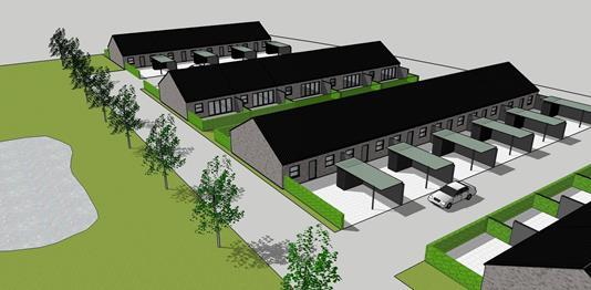 Rækkehus på Pilegårdsparken i Slagelse - Projekt