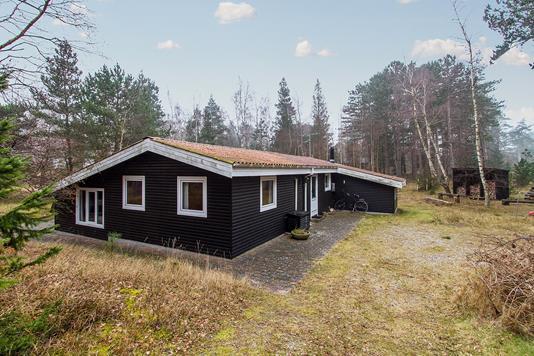 Fritidsbolig på Fællesskoven i Sjællands Odde - Set fra vejen