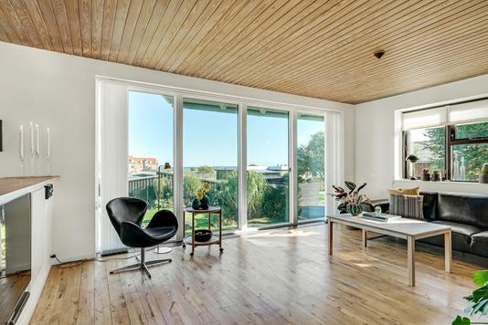 Villa på Solsbækvej i Sæby - Stue