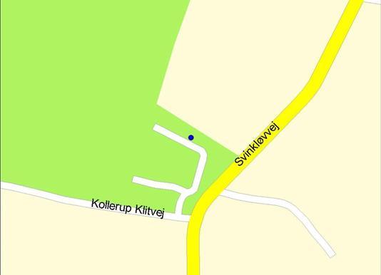Helårsgrund på Kollerup Klitvej i Fjerritslev - Kort