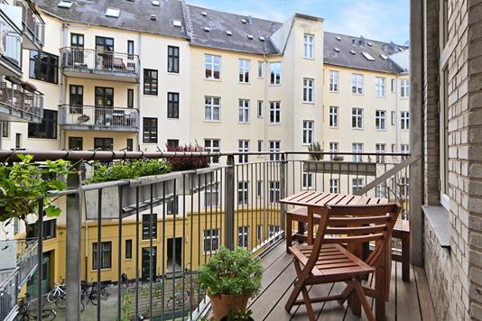 Ejerlejlighed på Korsørgade i København Ø - Altan