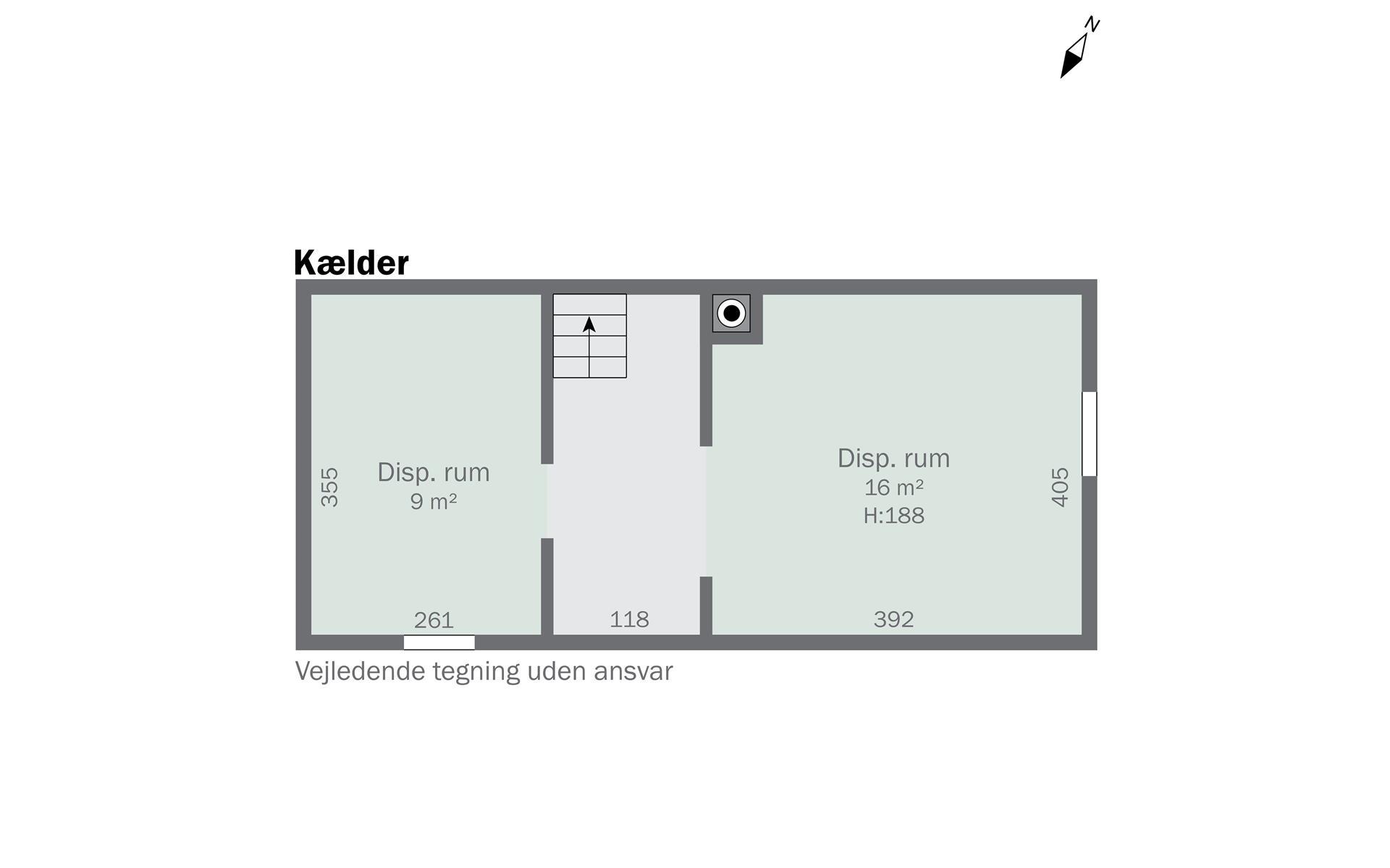 Landejendom på Gammelgårdsvej i Nykøbing Sj - Kælder