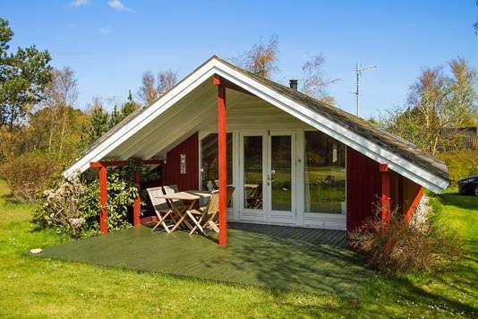 Fritidsbolig på Flinteager i Sjællands Odde - Overdækket terrasse