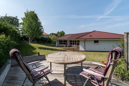 Villa på Gartnervænget i Nykøbing Sj - Terrasse