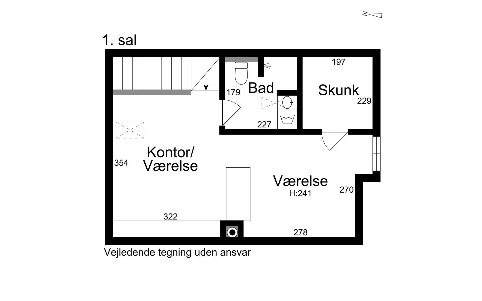 Rækkehus på Biskop Svanes Vej i Birkerød - 1. sal
