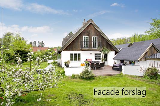 Villa på Sandbjergvej i Vedbæk - Set fra haven