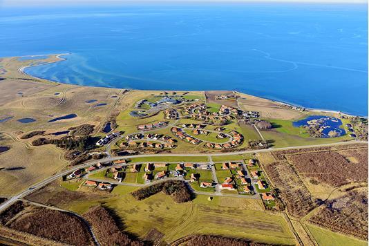 Helårsgrund på Højbjergparken i Korsør - Luftfoto