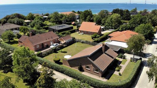 Villa på Skrænten i Korsør - Luftfoto