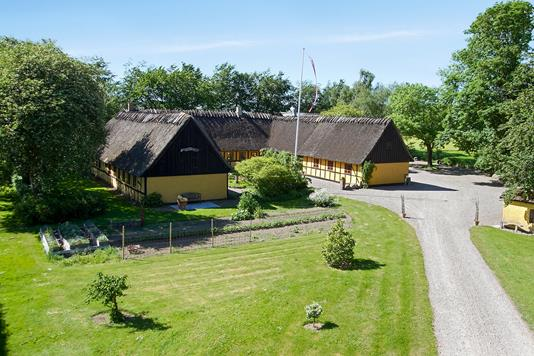Villa på Stenhavevej i Ørbæk - Set fra haven