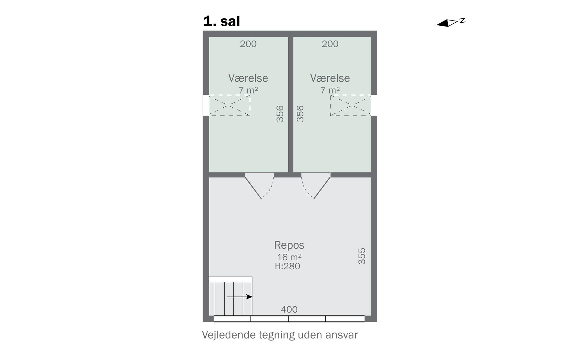 Rækkehus på Gl. Vindingevej i Nyborg - 1. sal
