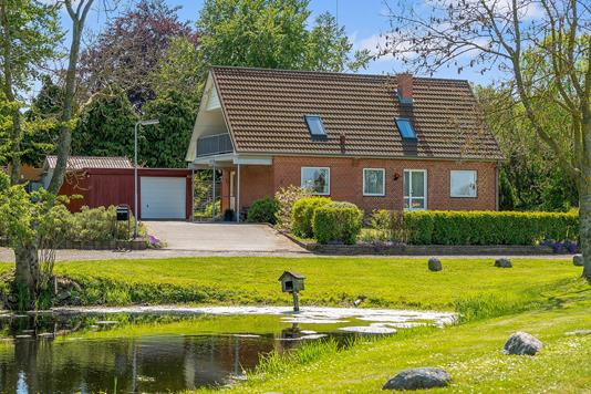 Villa på Lamdrupvej i Nyborg - Set fra haven