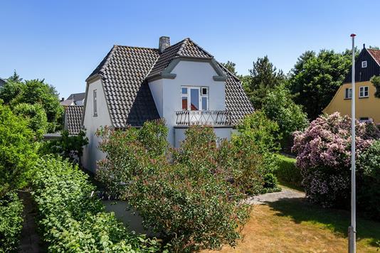 Villa på Nørreport i Ebeltoft - Set fra haven