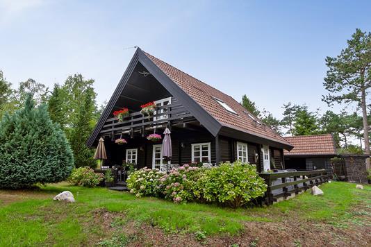 Villa på Dalslugten i Ebeltoft - Set fra haven