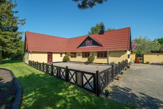 Villa på Sneden i Rønnede - Set fra haven
