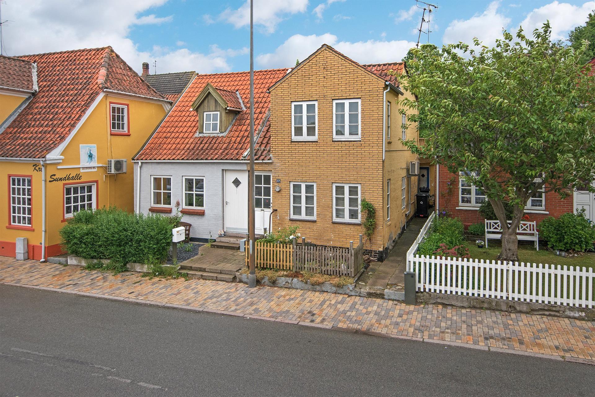 Rækkehus på Sundgade i Sønderborg - Mastefoto