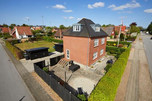 Villa på Hiort Lorenzens Vej i Haderslev - Mastefoto