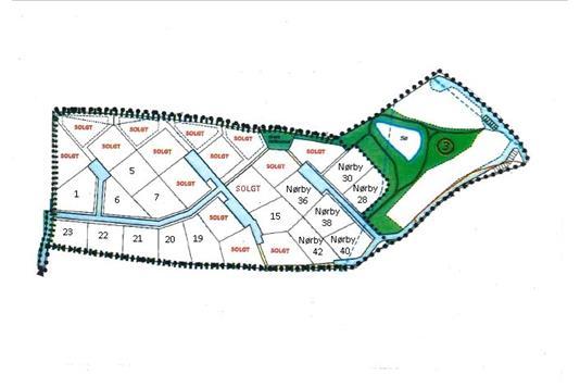 Helårsgrund på Nørby i Haderslev - Kort