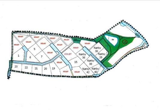 Helårsgrund på Pamhule Søpark i Haderslev - Kort
