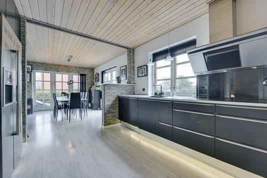 Villa på Toften i Bording - Køkken