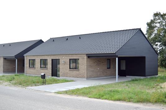Rækkehus på Ågade i Tarm - Facade