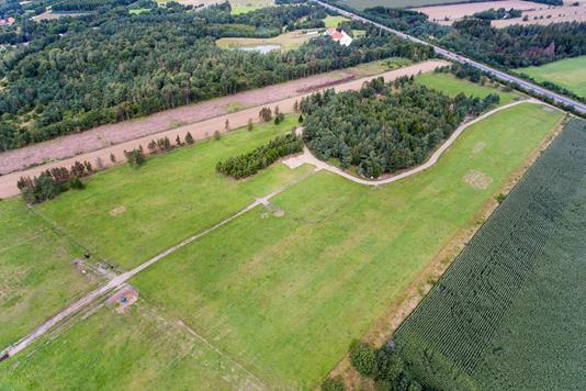 Helårsgrund på Århusvej i Viborg - Luftfoto