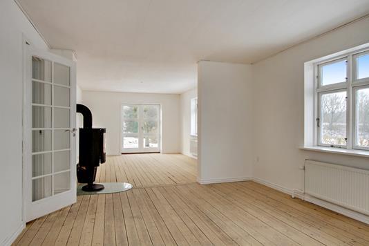 Villa på Kirkevej i Skørping - Stue