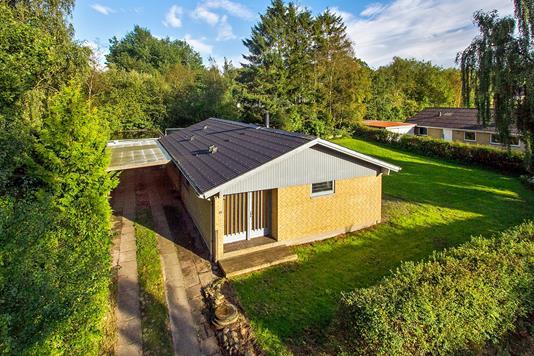 Villa på Egholmsvej i Skørping - Set fra haven