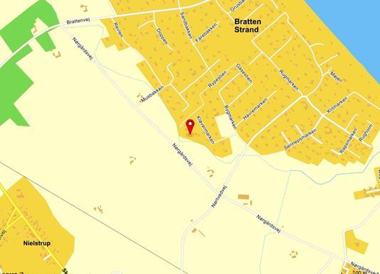 Fritidsgrund på Kløvermarken i Strandby - Kort