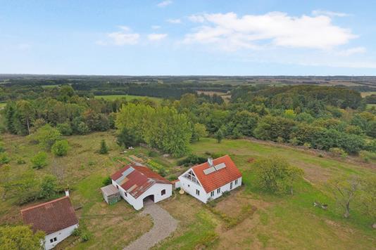 Villa på Dorfvej i Dronninglund - Luftfoto