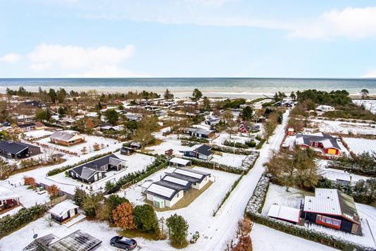Fritidsbolig på Ryttermarken i Hadsund - Luftfoto