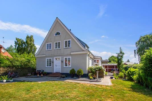 Villa på Kirkevej i Aalestrup - Set fra haven