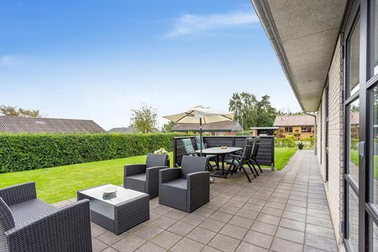 Villa på Kong Valdemars Vej i Aars - Overdækket terrasse