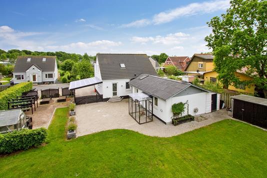 Villa på Nørregade i Aars - Set fra haven