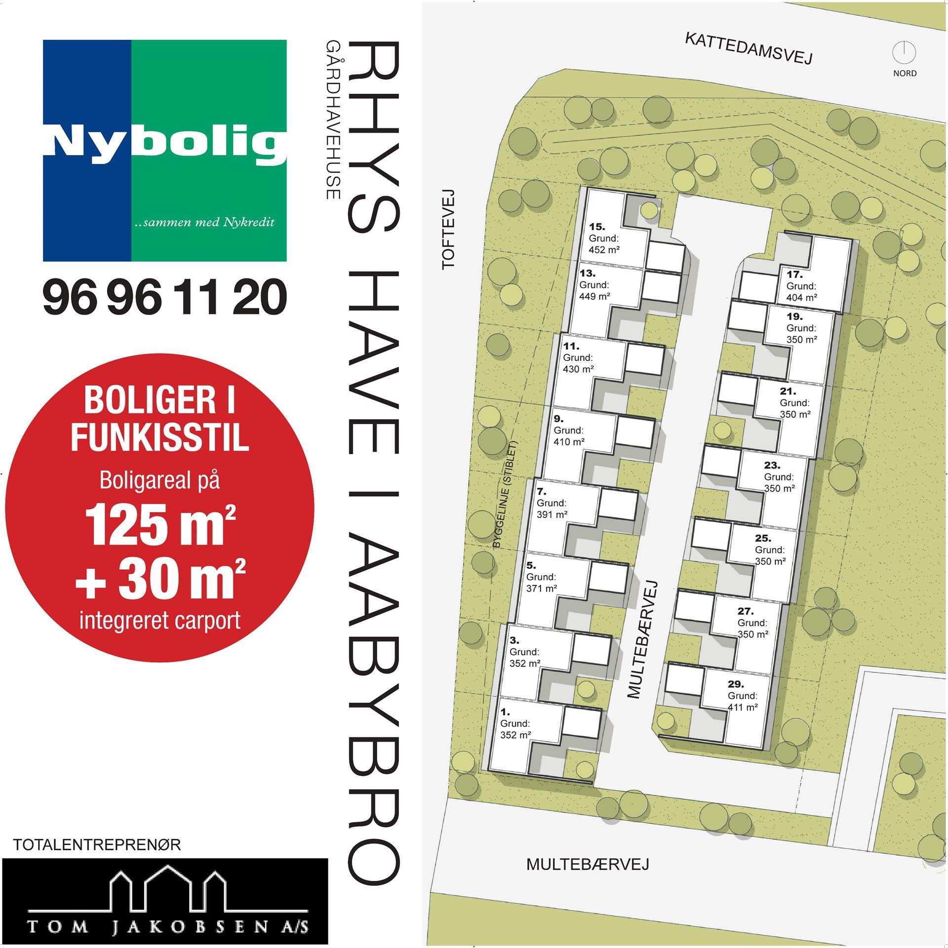 Rækkehus på Multebærvej i Aabybro - Projekt