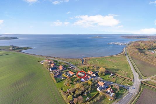 Villa på Havhusevej i Rønde - Luftfoto
