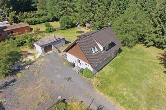 Villa på Ringsøvej i Ryomgård - Luftfoto
